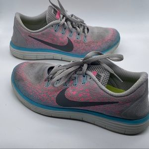 Nike Free Rn Distance Gray Running Shoes Size 7.5